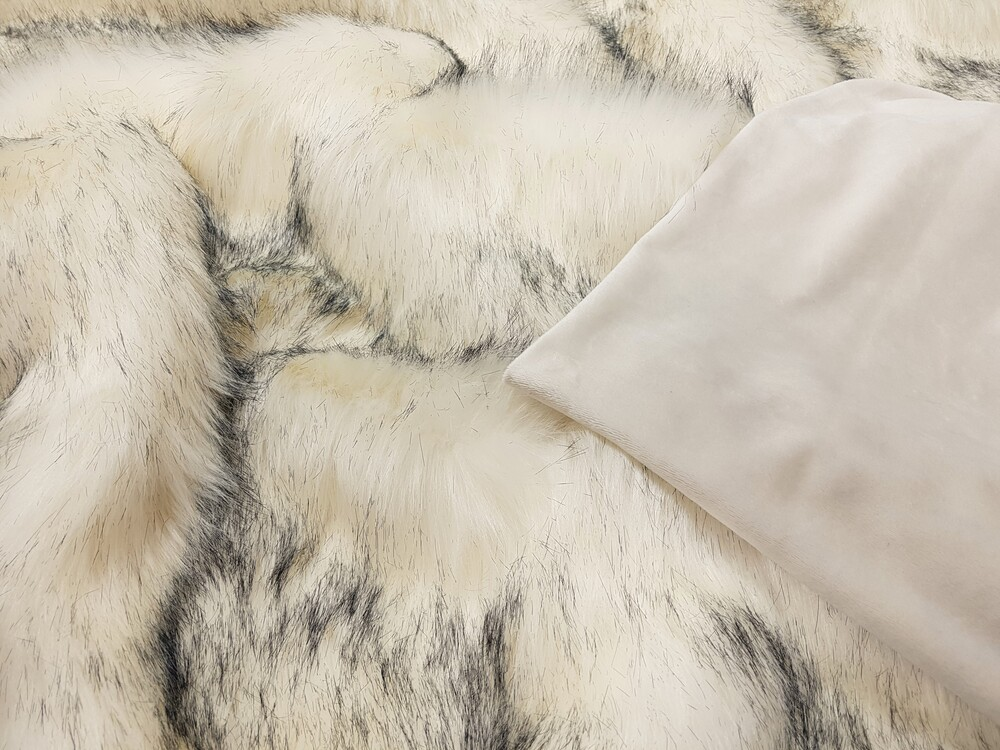 Sale Tissavel Arctic Fox Faux Fur Throws With Cream Velboa Faux Fur Throws Fabric And Fashion
