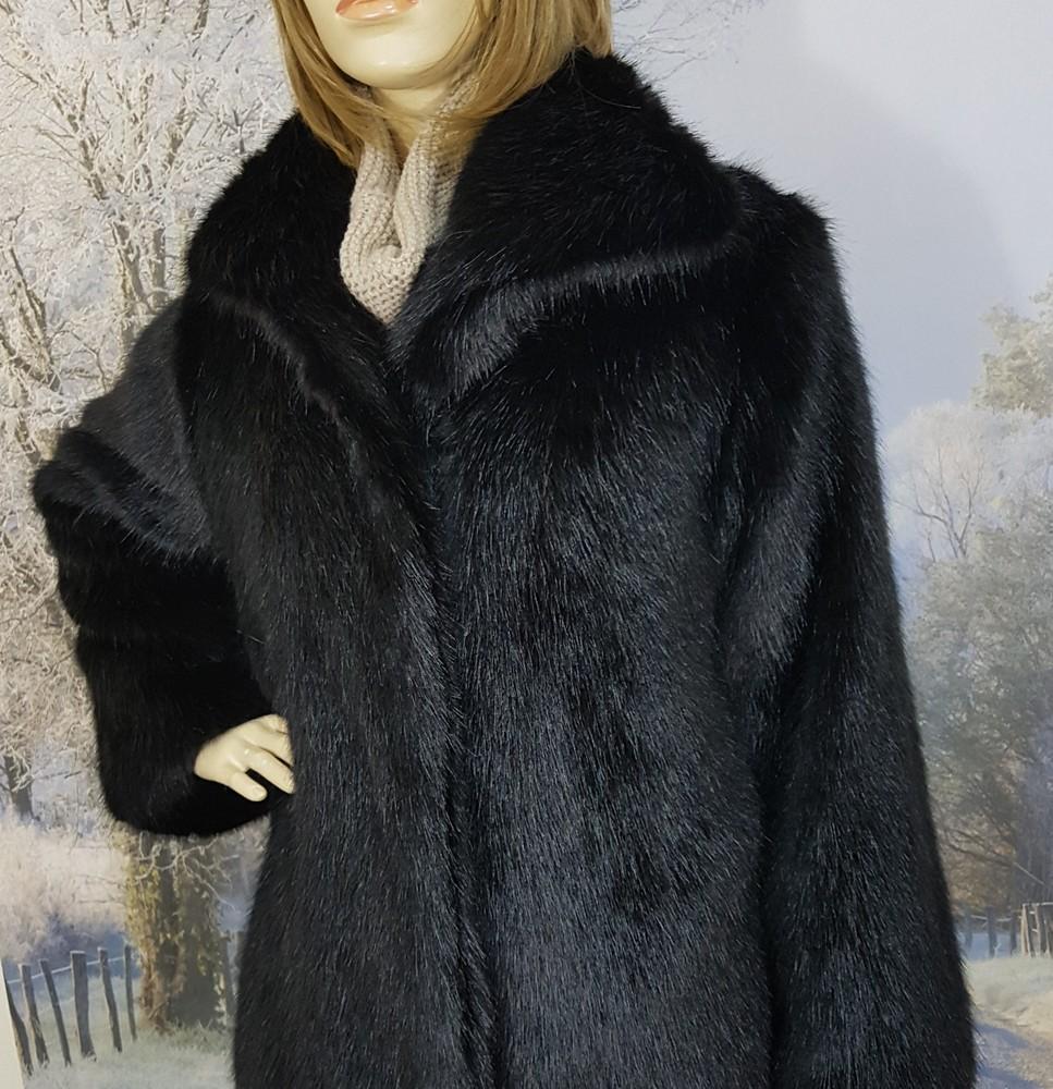 89ca47e97 SALE Black Mink Faux Fur Long Coat size 8 - Faux Fur Throws, Fabric ...