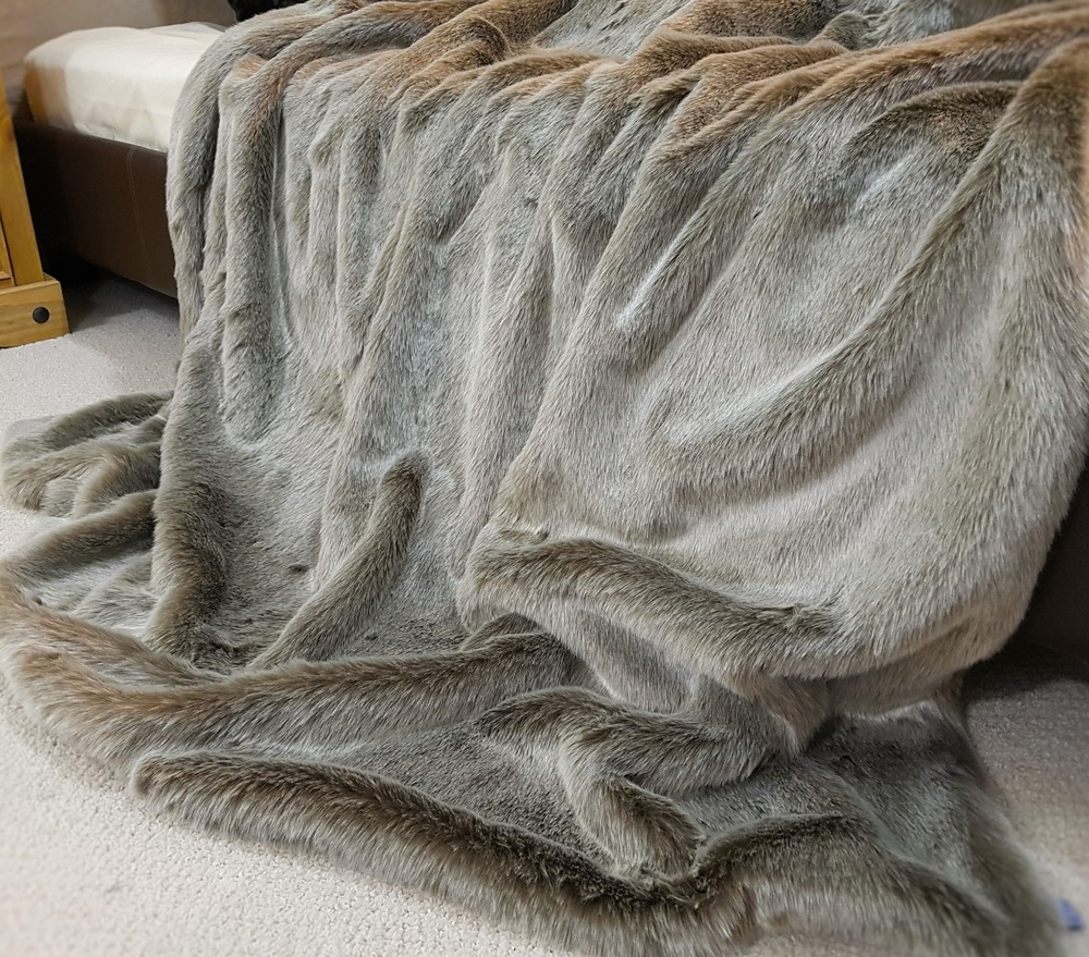 Koala Faux Fur Throw - Faux Fur Throws, Fabric and Fashion