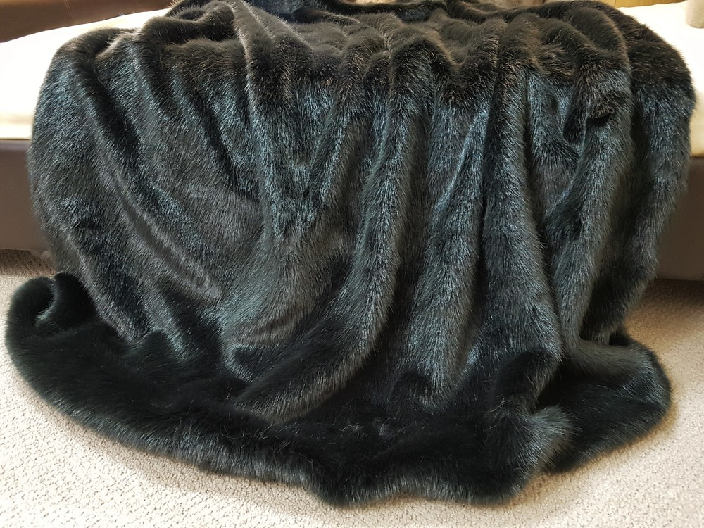 860d13f294350 Charcoal Mink Faux Fur Throw - Faux Fur Throws