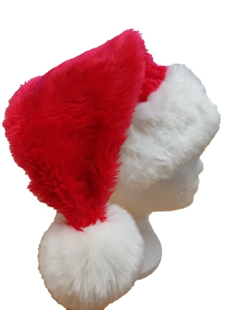593828d2dabfc Luxury Faux Fur Santa Hat - Faux Fur Throws
