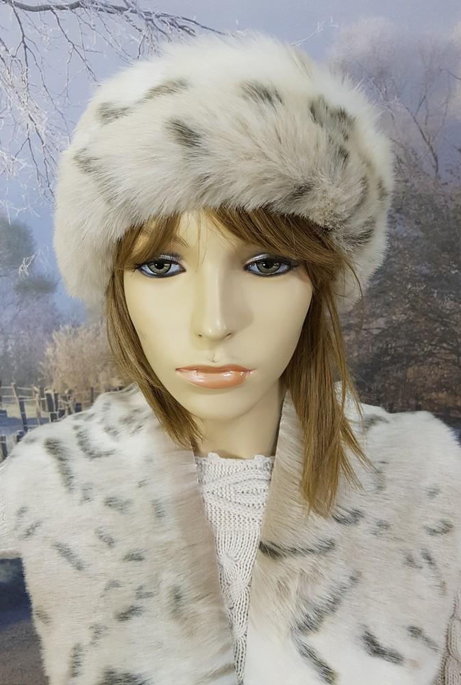 Snow Lynx Faux Fur Roller Hat Faux Fur Throws Fabric