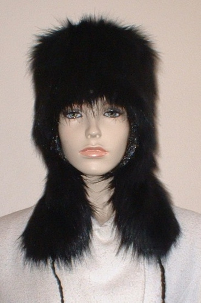 2295c582b8bfc Black Bear Faux Fur Trapper Hat - Faux Fur Throws