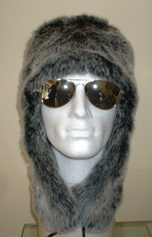 2679c8961c023 Arctic Wolf Faux Fur Trapper Hat - Faux Fur Throws, Fabric and Fashion