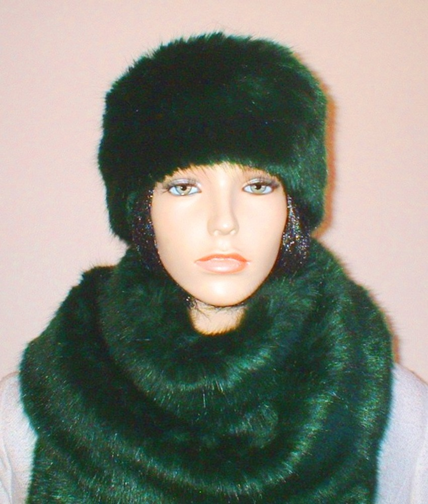 Hunter Green Faux Fur Headband - Faux Fur Throws 7e5775ec660