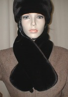 Chocolate Moleskin Faux Fur Scarves, Headbands,  Accessories
