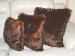 Red Fox Faux Fur Cushion