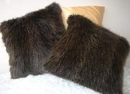 Kodiac Bear Faux Fur Cushions