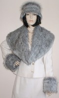 Silver Musquash Faux Fur Hats, Collars, Scarves and Accessories