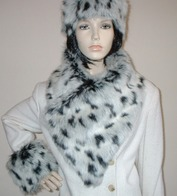Vintage Faux Fur Asymmetric Scarves