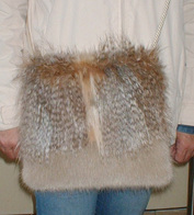 Faux Fur Two Tone Shoulder Bags