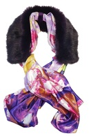 Faux Fur Silk Scarf Collars