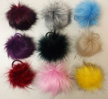 Faux Fur Bobbles/ Pom Pom and Tails