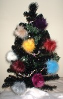Faux Fur Christmas Baubles