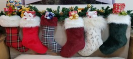 Faux Fur Christmas Stockings