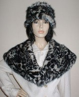 Panther Faux Fur Hats, Scarves and Fashion Accessories