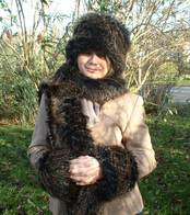 Kodiac Bear Faux Fur Hats, Scarves, Cuffs, and Accessories