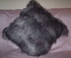 Siberian Wolf Faux Fur Cushions