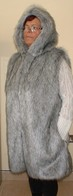 Knee Length Faux Fur Gilet