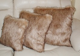 Fawn Musquash Faux Fur Cushions
