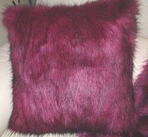 Magenta Faux Fur Cushions