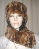 Vintage Gold Astra Faux Fur Hats, Cuffs and Fashion Accessories