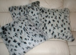 Tissavel Winter Leopard Cushions