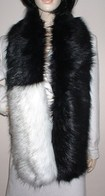 Faux Fur Two Tone Scarves