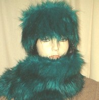 Jade Faux Fur Headbands, Collars, Cuffs, Accessories