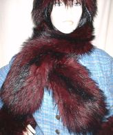 Tuscan Red Faux Fur Headbands, Cuffs, Scarves, Accessories