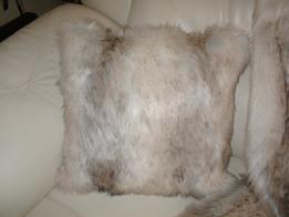 Snow Wolf Faux Fur Cushions