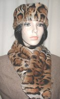 Jaguar Faux Fur Hats, Scarves, Cuffs, Accessories