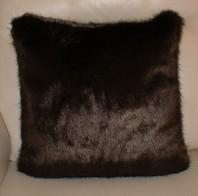 Mahogany Mink Faux Cushions