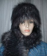 Siberian Wolf Faux Fur Hats, Scarves and Accessories