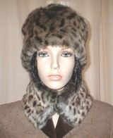 Ocelot Faux Fur Hats, Scarves, Headbands, Accessories
