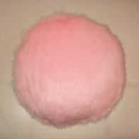 Raspberry Cream Mink Faux Fur Cushions