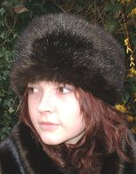 Mahogany Mink Faux Fur Hats, headbands, Scarves Accessories