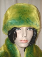 Pistachio Flash Faux Fur Headbands, Scarves
