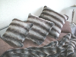 Chinchilla Faux Fur Cushions