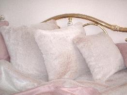 Pink Champagne Faux Fur Cushions