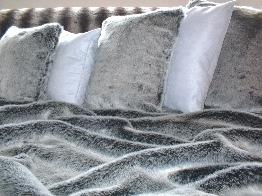 Arctic Wolf Faux Fur Cushions