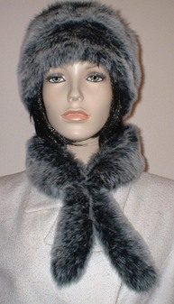 Arctic Wolf Faux Fur Slim Collar/Headband