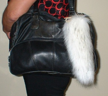 Alaska Faux Fur Tail Handbag Key Charm