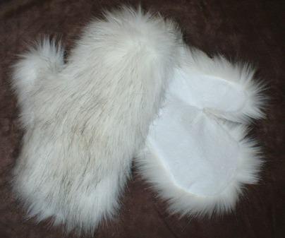 Alaska Faux Fur Mittens