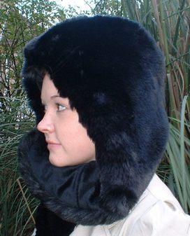 Black Mink Faux Fur Hoodie