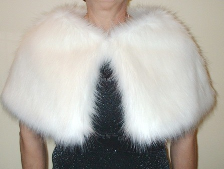 Polar Bear  Faux Fur Capelet