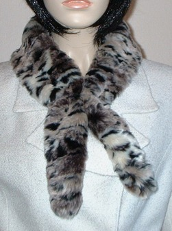 Wild Cat Faux Fur Slim Collar/Headband
