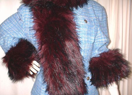 Tuscan Red Faux Fur Cuffs (Pair)
