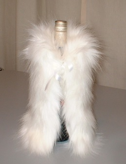 Polar Bear Faux Fur Bottle Wrap