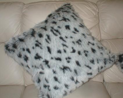 Tissavel Winter Leopard Cushion 61 x 61cm 24 x24 inch